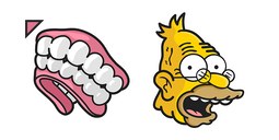 The Simpsons Grandpa Abraham Dentures Cursor