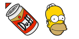 The Simpsons Homer Duff Cursor