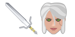 The Witcher Ciri Sword Zireael Cursor Cursor