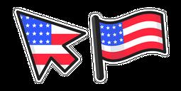 United States of America Flag Cursor