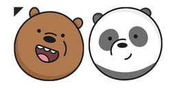 We Bare Bears Grizz and Panda Cursor