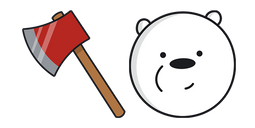 We Bare Bears Ice Bear Fire Axe Cursor