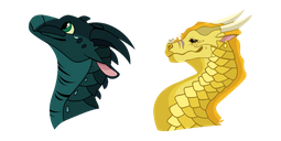 Wings of Fire Moonwatcher and Qibli Cursor