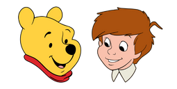 Winnie the Pooh and Christopher Robin Cursor