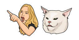 Woman Yelling at a Cat Meme Cursor