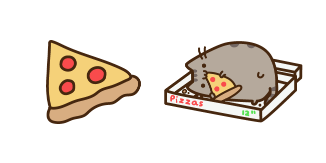 Pusheen and Pizza Cursor