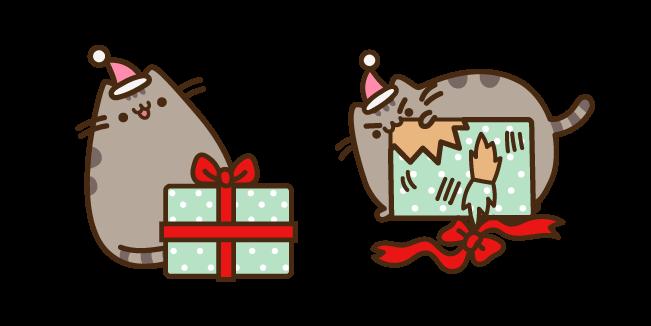 Pusheen with Christmas Present Cursor
