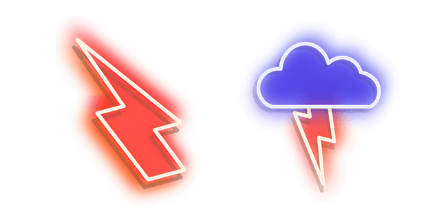 Red Lightning and Blue Storm Neon
