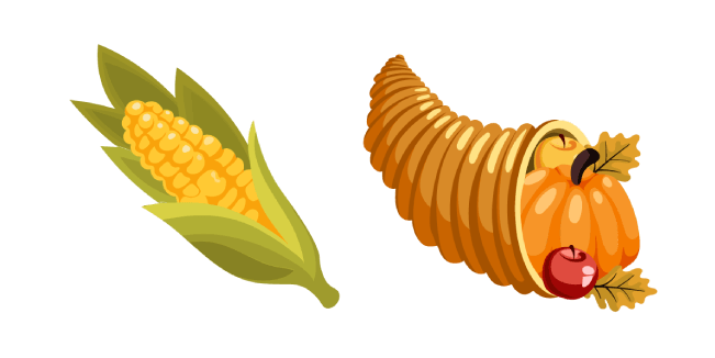 Thanksgiving Day Corn and Cornucopia Cursor