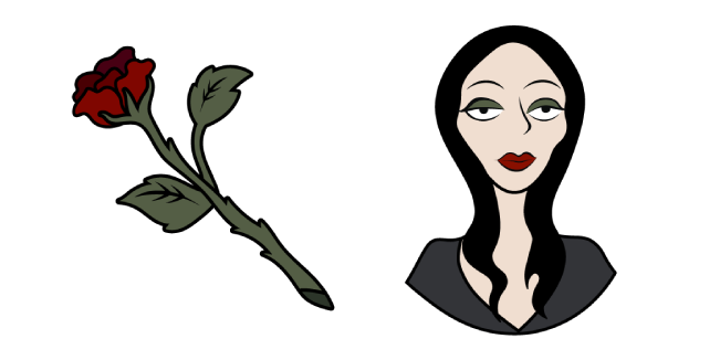 The Addams Family Morticia and Rose