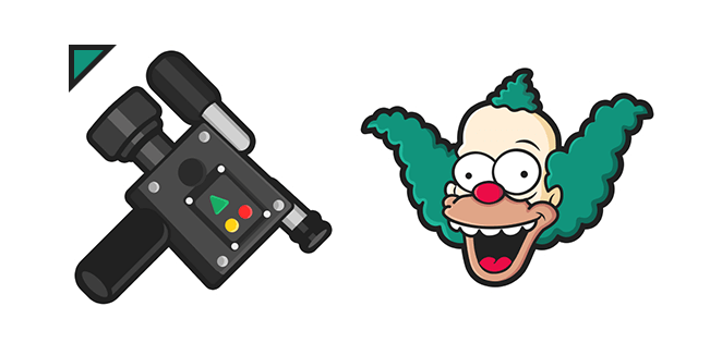The Simpsons Krusty the Clown Video Camera Cursor