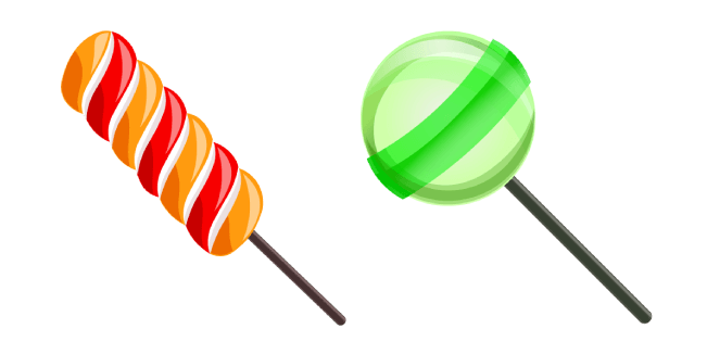 Twist Lollipop and Green Lollipop