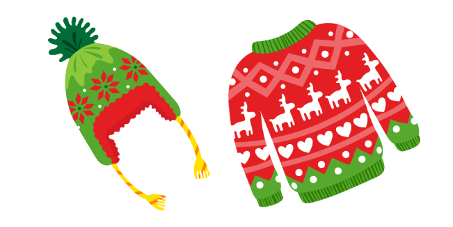 Ugly Christmas Sweater and Hat