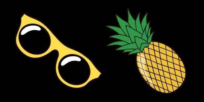 VSCO Girl Sunglasses and Pineapple