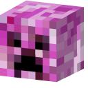 Minecraft Heart with Arrow and Pink Creeper Pointer