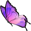 Blue and Purple Butterfly Pointer