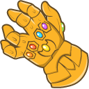 Kermit with the Infinity Gauntlet Cursor