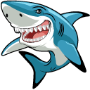 Funny Great White Shark Cursor