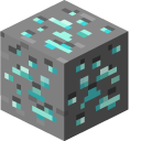 Minecraft Iron Pickaxe and Diamond Ore Pointer