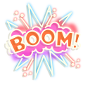 Red Bomb and Boom Neon Pointer