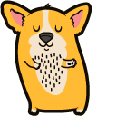 Cute Dancing Corgi Dog Cursor