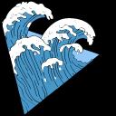 VSCO Girl Ocean Waves and Shell Cursor