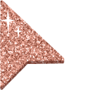 Copper Glitter Cursor
