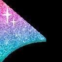 Purple and Teal Glitter Cursor