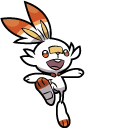 Pokemon Scorbunny and Cinderace Cursor