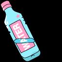 VSCO Girl Water Bottle and Cassette Tape Cursor