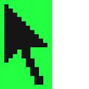 Screamin' Green Pixel Cursor