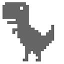 Chrome Dino T-Rex Cursor