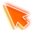 Orange Arrow Neon Cursor