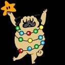 Cute Christmas Tree Pug Cursor