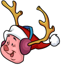 Christmas Winnie the Pooh and Piglet Cursor