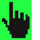 Screamin' Green Pixel Pointer