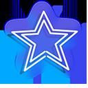 Blue Star Neon Pointer