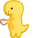 Cute Dino with Cup of Tea Pointer