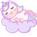 Cute Unicorn on the Moon and Cloud Pointer