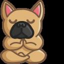 Cute Yoga Bulldog Pointer
