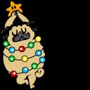 Cute Christmas Tree Pug Pointer