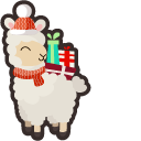 Cute Christmas Llama Pointer