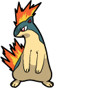 Pokemon Cyndaquil and Typhlosion Pointer