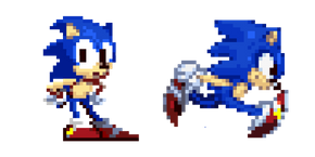 Sonic the Hedgehog Pixel Curseur
