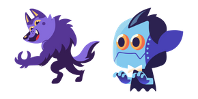 Halloween Werewolf and Dracula Cursor