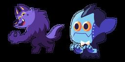 Halloween Werewolf and Dracula Cursor