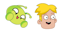 Final Space Mooncake and Gary Goodspeed Curseur