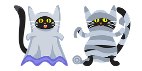 Курсор Halloween Black Cats Ghost and Mummy