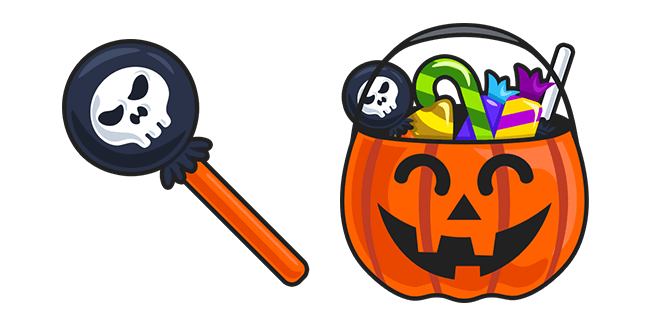 Halloween Lollipop and Pumpkin Basket