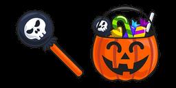 Halloween Lollipop and Pumpkin Basket Cursor